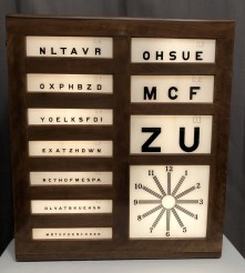 Ancien tableau d'ophtalmologie.