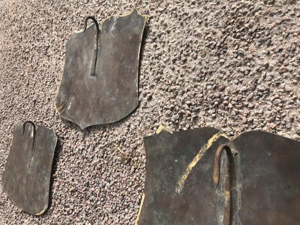 Anciennes plaques de boucherie.