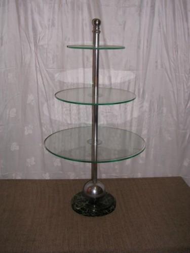 Présentoir trois plateaux verre