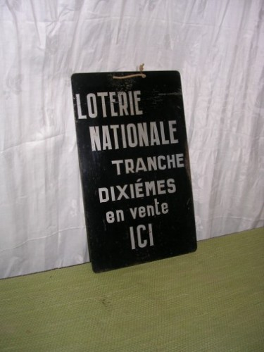 Plaque Loterie Nationale