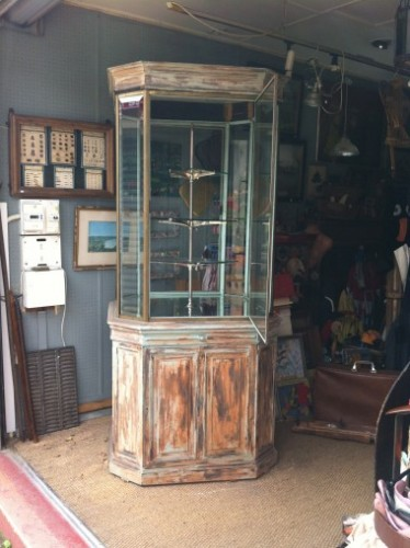 Grande vitrine ancienne de magasin