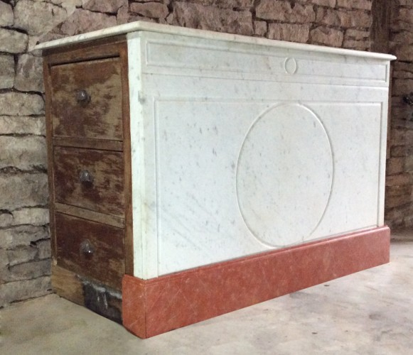 Ancien meuble comptoir de boulangerie 1900