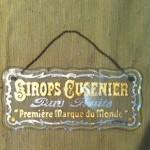 Ancienne plaque publicitaire en verre