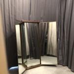 Ancien miroir triptyque mural.