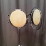 Ancien miroir triptyque.